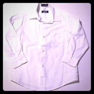 Boys size 7 white button down shirt